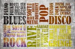 Affiche de musique rock images stock