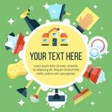 Affiche de nettoyage Photographie stock libre de droits