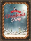 Affiche de Noël avec le village ENV 10 Photo stock