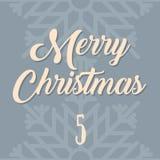 Affiche de Noël Noël coloré Advent Calendar Compte à rebours à Noël 5 Image libre de droits