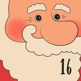 Affiche de Noël Noël coloré Advent Calendar Compte à rebours à Noël 16 Photographie stock
