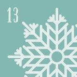 Affiche de Noël Noël coloré Advent Calendar Compte à rebours à Noël 13 Image libre de droits