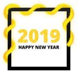 Affiche 2019 de nouvelle année illustration stock