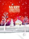 Affiche de papier de Noël Images stock