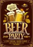 Affiche de partie de bière illustration libre de droits