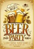 Affiche de partie de bière illustration de vecteur