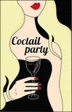 Affiche de partie de Coctail Image libre de droits