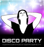Affiche de partie de disco Photo stock