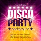Affiche de partie de disco Photographie stock libre de droits