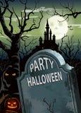 Affiche de partie de Halloween Image stock