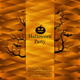 Affiche de partie de Halloween Fond abstrait de vecteur Photo stock