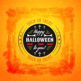 Affiche de partie de Halloween La typographie marque avec des lettres la police Photo libre de droits