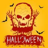 Affiche de partie de zombi de Halloween Photographie stock
