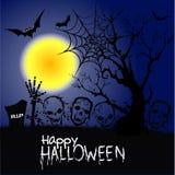 Affiche de partie de zombi de Halloween Photo libre de droits