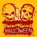 Affiche de partie de zombi de Halloween Images libres de droits