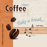 Affiche de pause-café rétro Photos libres de droits