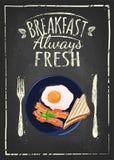 Affiche de petit déjeuner illustration libre de droits