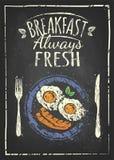 Affiche de petit déjeuner illustration de vecteur