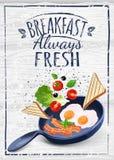 Affiche de petit déjeuner illustration stock