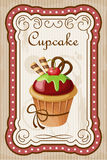 Affiche de petit gâteau de vintage Photo stock