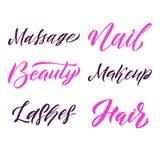 Affiche de place de typographie de beauté Lettrage de vecteur Expression de calligraphie pour des cartes cadeaux, scrapbooking, b Photos stock