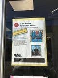 Affiche de présentation de livre à la bibliothèque publique de Brooklyn Images libres de droits