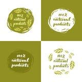 Affiche de produits naturels Images libres de droits