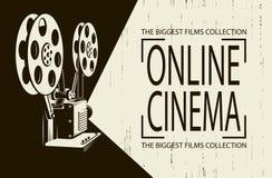 Affiche de projecteur de film illustration libre de droits
