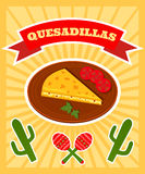 Affiche de Quesadillas illustration stock