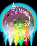 Affiche de réception de disco Photo libre de droits