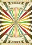 Affiche de rayon de soleil de cru Image libre de droits
