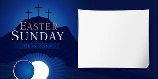 Affiche de semaine sainte de dimanche de Pâques illustration stock