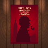 Affiche de Sherlock Holmes Rue 221B de Baker Londres GRANDE INTERDICTION Photographie stock