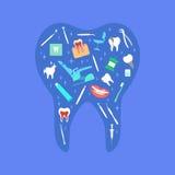 Affiche de soins dentaires Photo stock