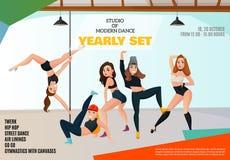 Affiche de studio de danse illustration stock