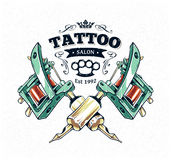 Affiche de studio de tatouage Photographie stock