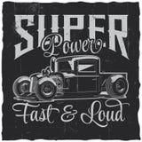 Affiche de super pouvoir Image stock