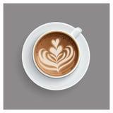 Affiche de tasse de café avec la citation de lettrage photo libre de droits