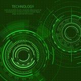 Affiche de technologie avec l'illustration de vecteur des textes illustration de vecteur
