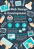 Affiche de technologie de web design de vecteur Images libres de droits