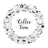 Affiche de temps de café illustration libre de droits