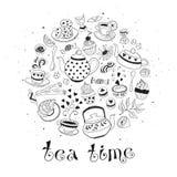 Affiche de temps de thé Photographie stock libre de droits