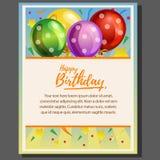 Affiche de thème de joyeux anniversaire avec le ballon illustration libre de droits