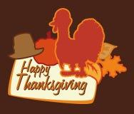 Affiche de thanksgiving avec la Turquie, illustration de vecteur Photos stock