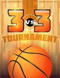 Affiche de tournoi de basket-ball Photos stock
