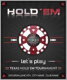 Affiche de tournoi de tisonnier de holdem du Texas Photographie stock libre de droits