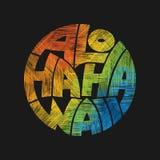 Affiche de typographie d'Aloha Hawaii Concept dans le style de vintage Photographie stock libre de droits