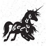 Affiche de typographie de lettrage de main Fond grunge Photos stock