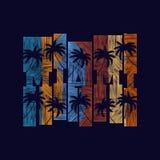 Affiche de typographie de Miami Concept dans le style de vintage pour la copie Images libres de droits