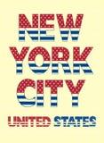 Affiche de typographie de New York City, vecteur Photos stock